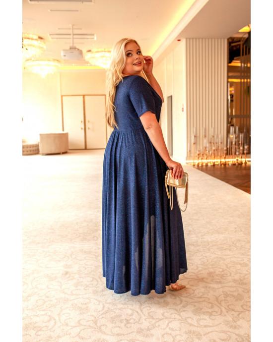 Wyjątkowa suknia Plus Size Q-01 grantowa