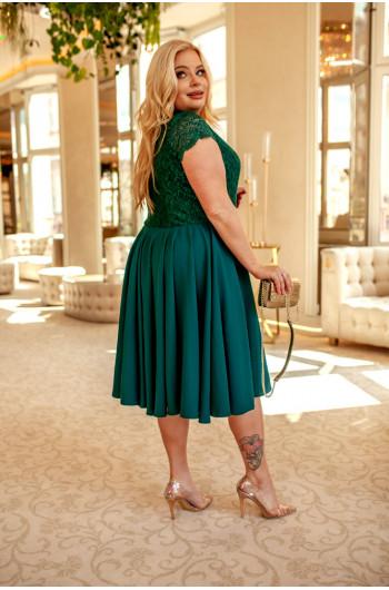 Q-06 Sukienka na wesele Plus Size, przepiękna koronkowa