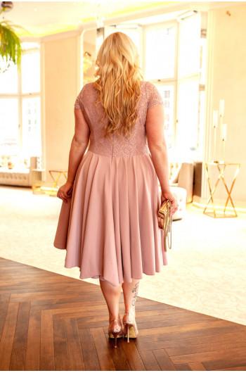 Fantastyczna sukienka Plus Size z koła Q-06 koronkowa