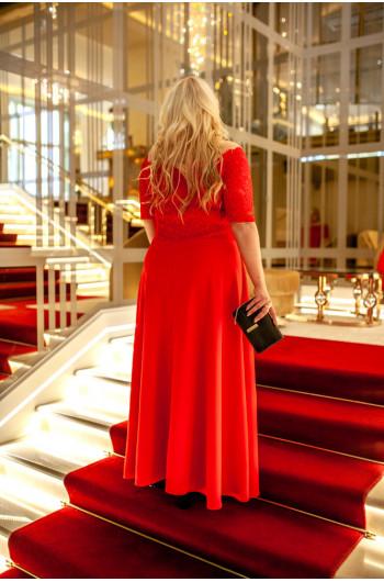 Najpiękniejsza czerwona koronkowa sukienka Q-07