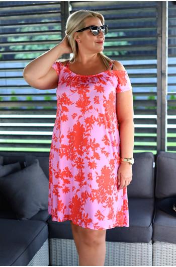 SALE! Wyjątkowa sukienka Plus Size asymetryczna V-22