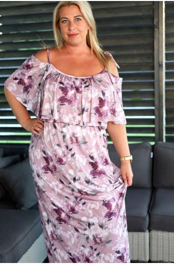Maxi suknia hiszpanka Plus Size V-49 bardzo kobieca