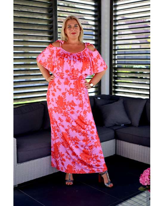SALE! Fantastyczna suknia Plus Size maxi V-49 piękne kolory