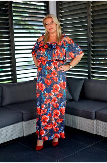 SALE! Klasyczna i urocza suknia hiszpanka w kwiaty V-49