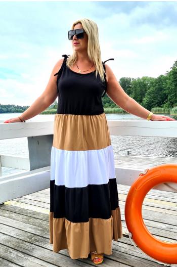 Y-10 wspaniała suknia w odcieniach camelu