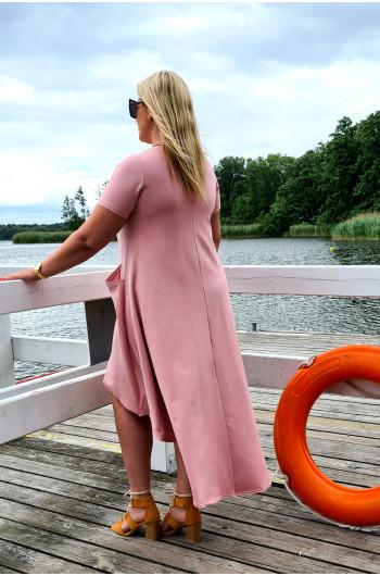 Nowość! Zjawiskowa suknia dresowa Y-11 brudny róż
