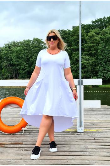 Dresowa sukienka Y-11 w kolorze bieli