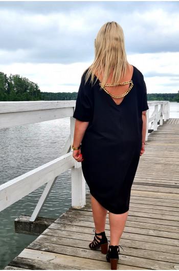 Sukienka Plus Size typu tuba Y-12  czarna