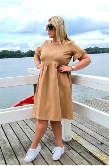 Camelowa sukienka Plus Size fenomenalna Y-13