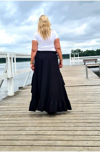 Asymetryczna spódnica Plus Size w stylu BOHO Y-14