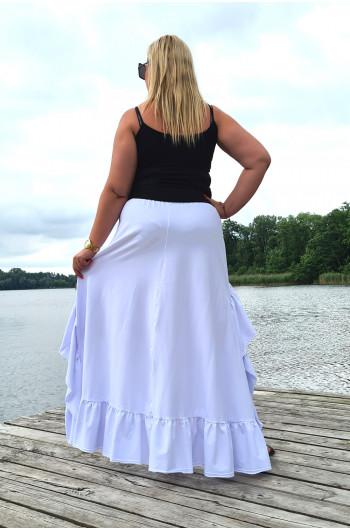 BOHO spódnica Plus Size nietuzinkowa Y-14 biała