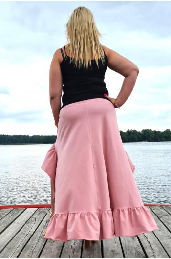Spódnica Plus Size w kolorze brudnego różu wyjątkowa Y-14