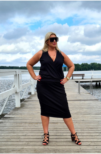 Fenomenalna dresowa spódnica Plus Size o kroju ołówkowym Y-15