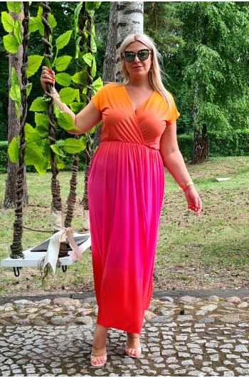 M-45 zjawiskowa i nietuzinkowa sukienka długa Ombre