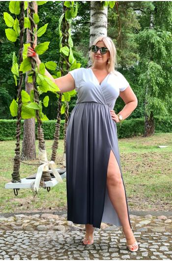 Ombre wyjątkowa sukienka na lato M-45