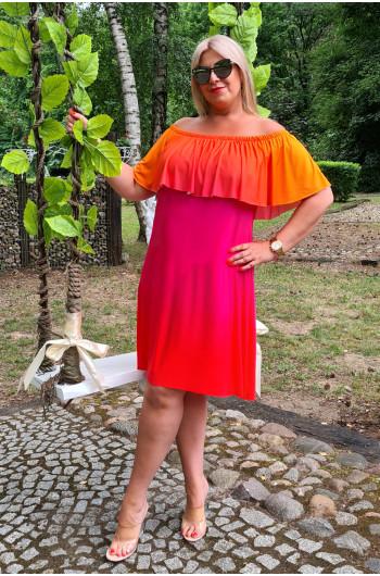 M-12 szałowa sukienka hiszpanka Ombre Plus Size