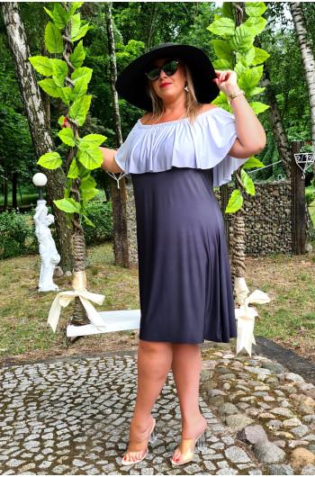 M-12 wspaniała najmodniejsza sukienka Plus Size OMBRE
