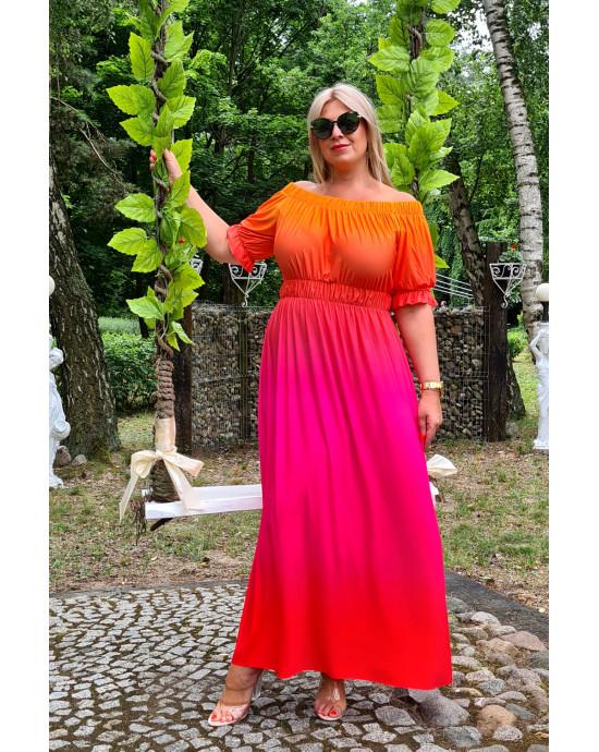 Fenomenalna suknia OMBRE M-34 piękne kolory