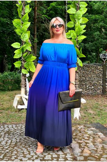 Kobieca i wyjątkowa M-34 sukienka Ombre