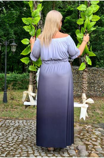 Ombre cudowna sukienka XXL hiszpanka, wyjątkowa M-34