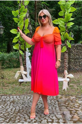 Wyjątkowa kobieca sukienka Plus Size OMBRE M-35
