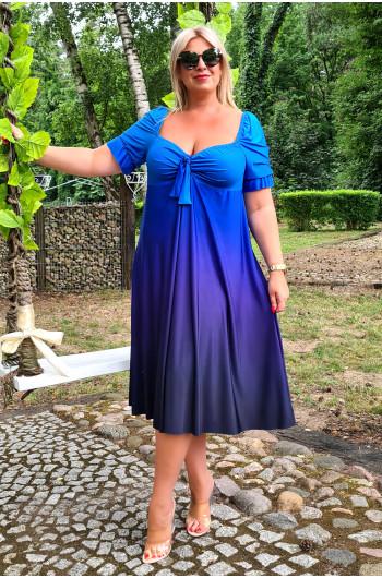 Śliczna kolorowa sukienka M-35 Ombre niebieska