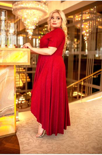 Cudowna suknia Plus Size w kolorze bordowym Q-01