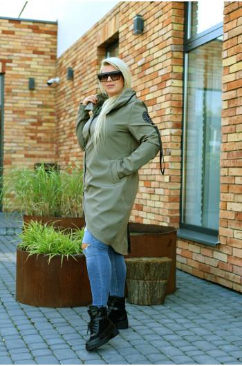 Płaszcz jesienny khaki Pv-3 midi, cudowny