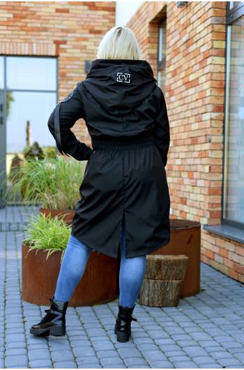 Perfekcyjny płaszcz jesienny Pv-3 midi czarny