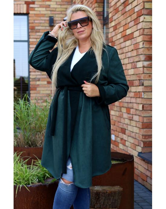 Perfekcyjny płaszcz z kożuszkiem Pk-02 butelkowy