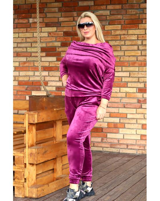 Śliczny komplet dresowy w kolorze purpury D-14