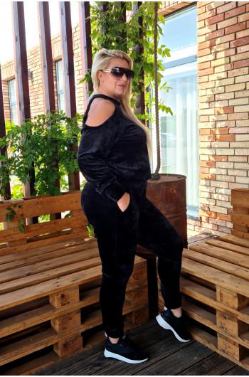 Efektowny dres czarny, mega kobiecy D-15
