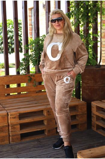 D-10 kobiecy dres w kolorze bezowym