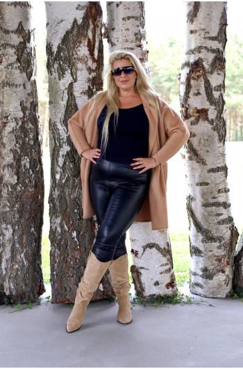 Wyjątkowy Camelowy płaszcz damski, Alpaka
