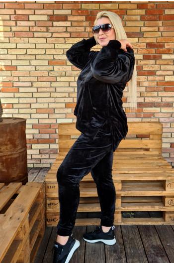 D-08 fenomenalny dres welurowy czarny
