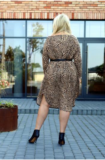 Szałowa sukienka z paskiem, intrygująca S-50