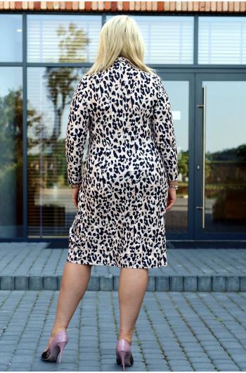 Elegancka i zmysłowa S-53 sukienka w printy