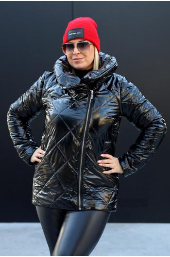 Czarna nietuzinkowa kurtka zimowa Kz-18 z napami