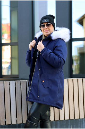 Szałowa kurtka zimowa, parka KP-01 granat