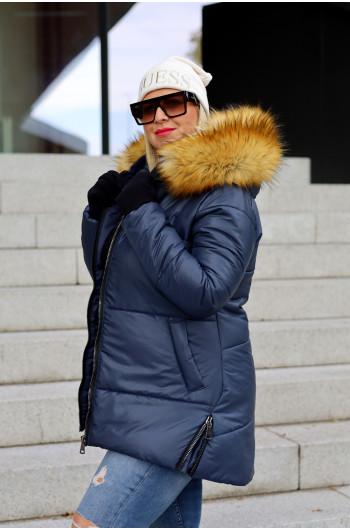 Perfekcyjna kurtka zimowa zdobiona zamkami