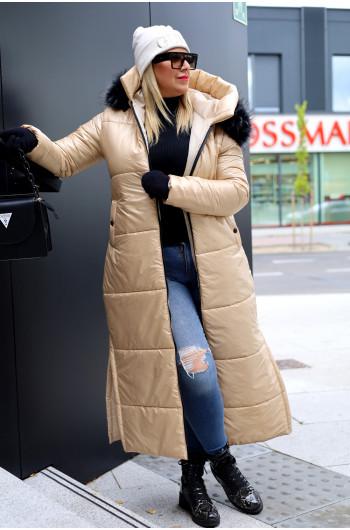 Szałowy niepowtarzalny Kzp-10 długi płaszcz zimowy