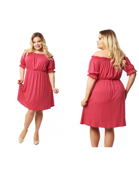 Sukienka Plus Size Boho w kolorze: fuksja