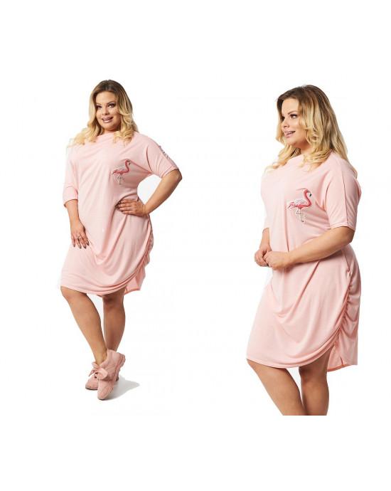 Przykuwająca sukienka Plus Size flaming S-39