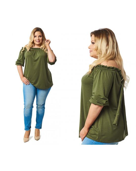 Zielona bluzka boho Plus Size B-16