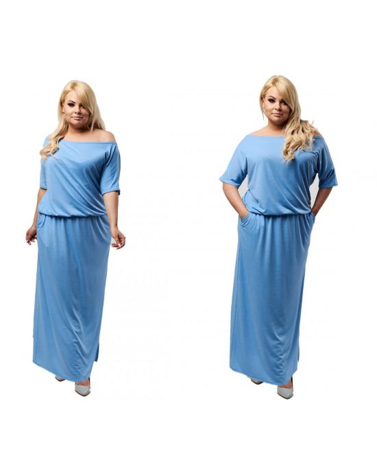 Błękitna sukienka maxi PLUS SIZE S-18