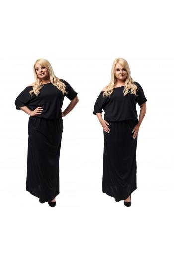 Czarna sukienka maxi PLUS SIZE S-18 by CAVARICCI