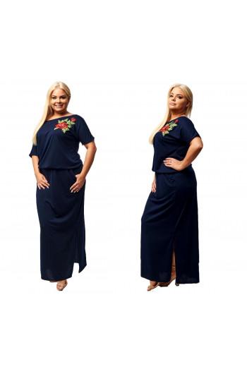 Piękna Sukienka PLUS SIZE haft S-18 - Moda Plus Size