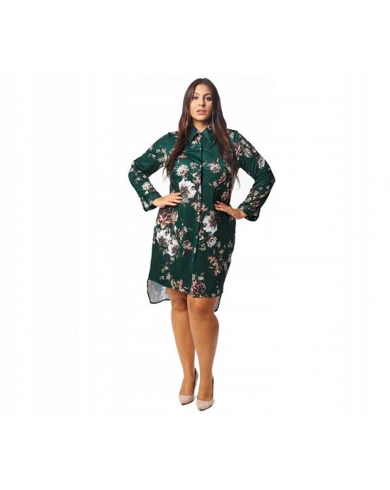 Zielona suknia koszula Plus Size SKD-60