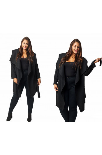 CAVARICCI PLUS SIZE PŁASZCZ waterfall P-02 MIDI