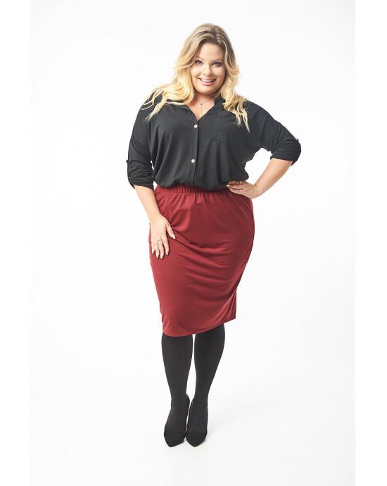 Ołówkowa spódnica bordo dla Pań rozmiarze XL plus